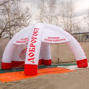 Палатка четырехопорная с полноцветной печатью