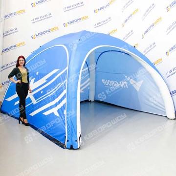 Надувная палатка с герметичным каркасом