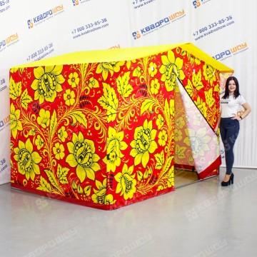 Палатка для проведения торговли с принтом Хохлома