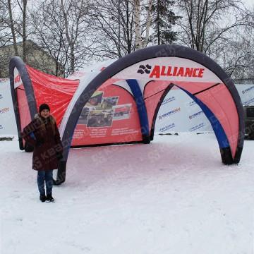 Палатка с козырьком