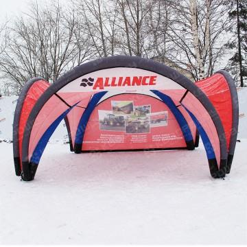 Рекламная палатка на герметичном пневмокаркасе