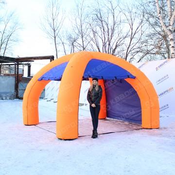 двухцветная надувная палатка купить
