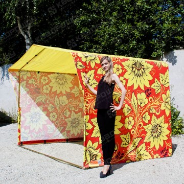 Торговая палатка Хохлома