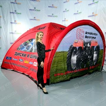 Надувная брендированная палатка
