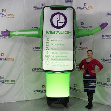 Рекламная фигура для салона мегафон с подсветкой