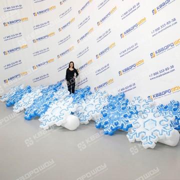 Пневмогирлянда снежинка с эффектом раскрытия