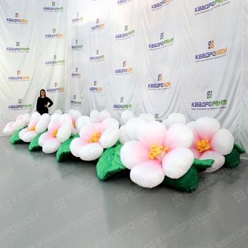 Пневмогирлянда для мероприятия яблоневые цветы