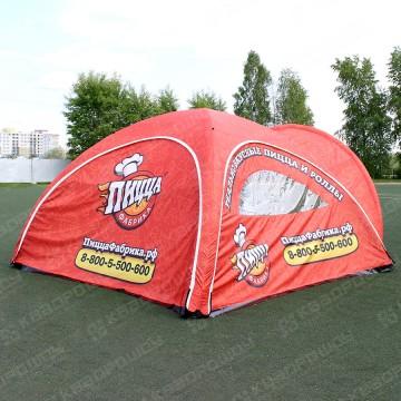 Рекламная палатка с логотипом 4х4 метра