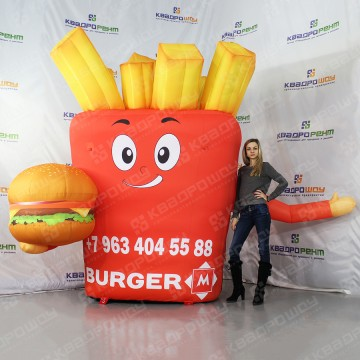 Надувная рекламная фигура на заказ для рекламы ресторана быстрого питания