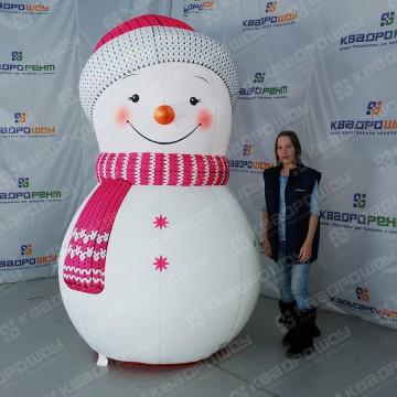 Новогодний декор надувной снеговик
