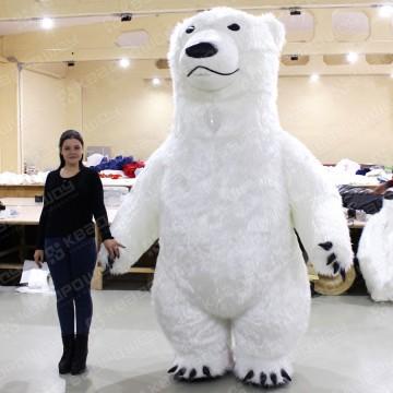 пневмокостюм большой белый медведь