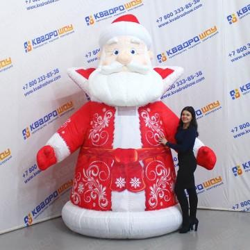 Надувной костюм Дед Мороз