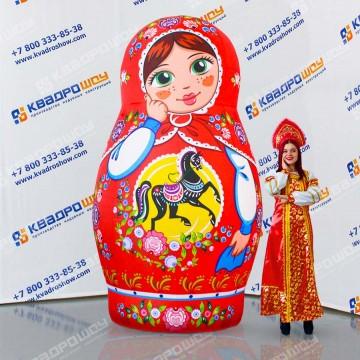 Пневмокостюм русская Матрешка городецкая роспись