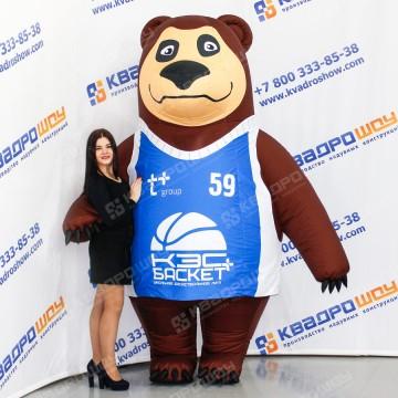 Надувной костюм Медведь