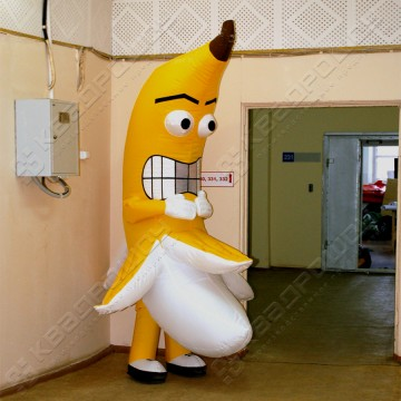 Надувной костюм (ростовая кукла надувная) Банан