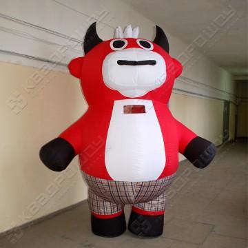 Надувной костюм (ростовая кукла надувная) Бык