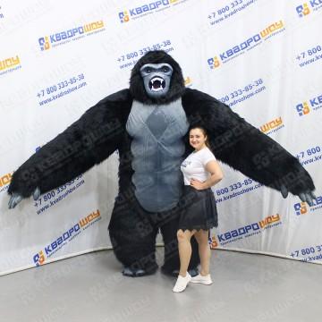 Надувной меховой костюм горилла
