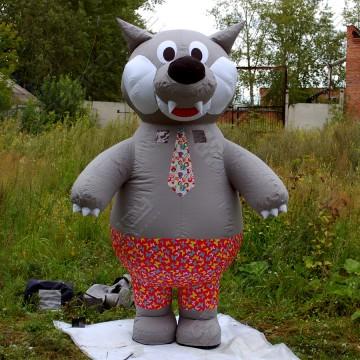 Надувной костюм (ростовая кукла надувная) Волк