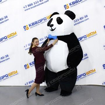 Надувной костюм Панда с коротким мехом