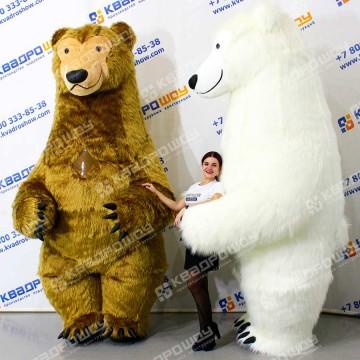 Пневмокостюм бурый Медведь длинный мех