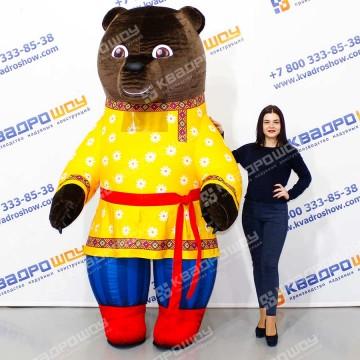 Костюм надувной Медведь нарядный