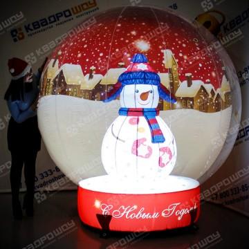 Надувной шар-игрушка с фигурой внутри и подсветкой