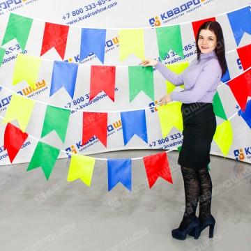 разноцветные флажки гирлянды к новому году