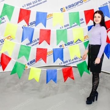 разноцветные флажки для украшения масленицы