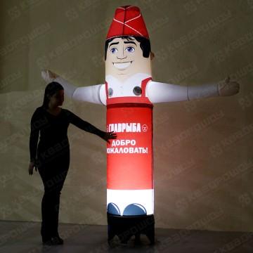 рекламные игрушки продавец с машущей рукой и подсветкой