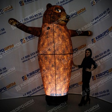Ростовая кукла для рекламы Медведь