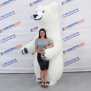 Ростовой костюм Медведь белый меховой