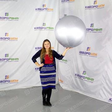Мячик большой серебристый