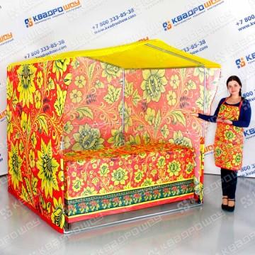 шатер хохлома торговая палатка на масленицу со скатертью и фартуком