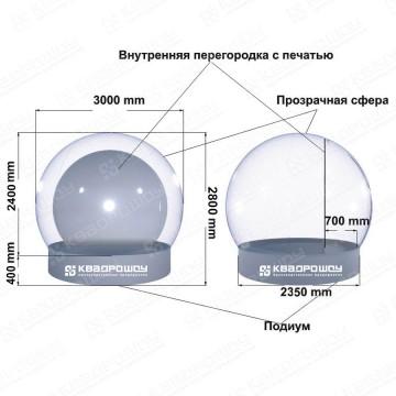 схема с размерами чудо шара на новый год