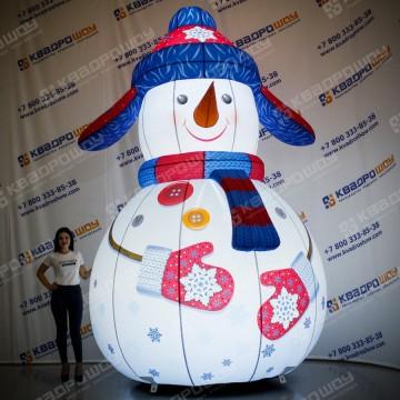 Снеговичок надувной декорационный