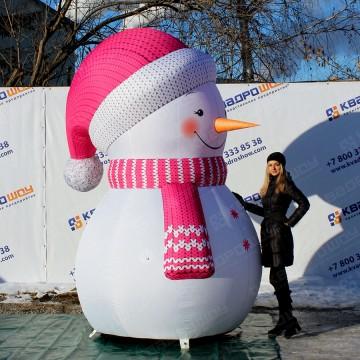 Персонаж надувной Снеговик