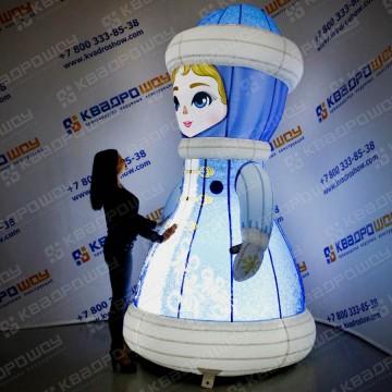 Снегурочка большая световая фигура для декора