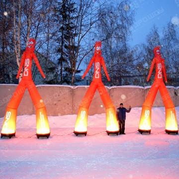 Танцующие человечки с подсветкой