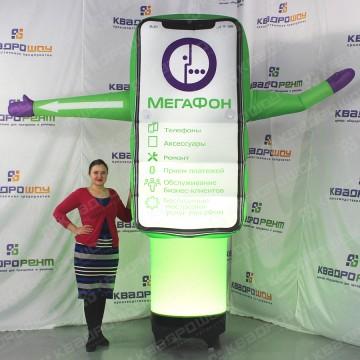 Надувной телефон для рекламы салона связи