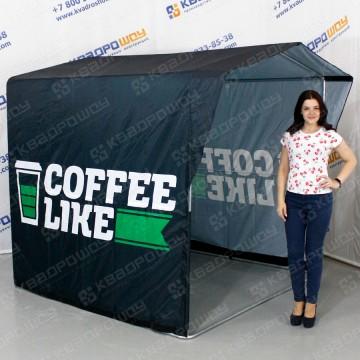 чёрная торговая палатка coffee like