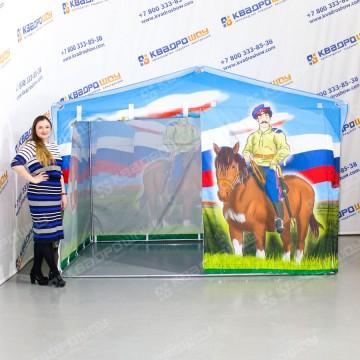 торговая палатка с принтом формы домик
