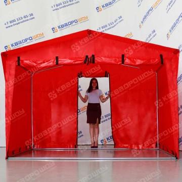 Каркасная палатка с передней 2-х дверной стенкой