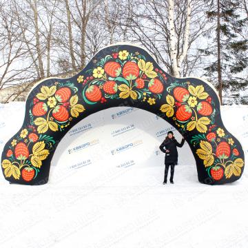 уличная декоративная арка на масленицу