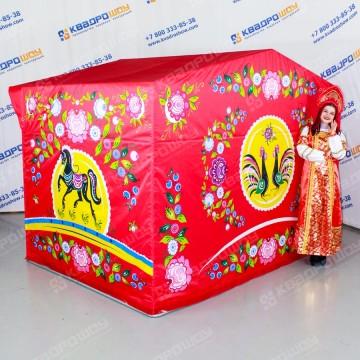Палатка с городецкой росписью на праздник масленицы