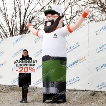 уличная рекламная фигура надувной продавец со сменными баннерами