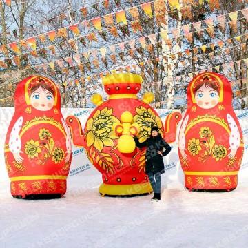 уличные надувные фигуры в русском стиле