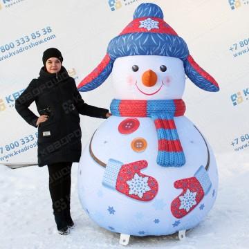 воздушный новогодний снеговичок надувная фигура
