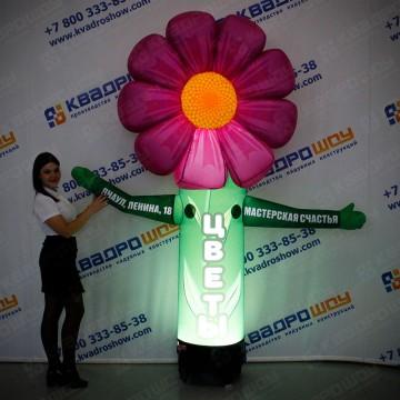 Надувной цветок для цветочного магазина с подсветкой