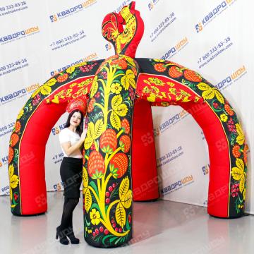 ярмарочная палатка в стиле хохлома