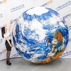 Надувной мяч глобус с облаками